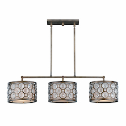 Berlin Collection 3 Light Island  Light In Hand Painted Weathered Bronze Finish