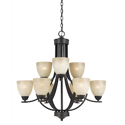 Value Collection 8000 9 Light Chandelier In A Bronze Finish