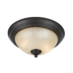 Value Collection 8000 2 Light Flushmount In A Bronze Finish