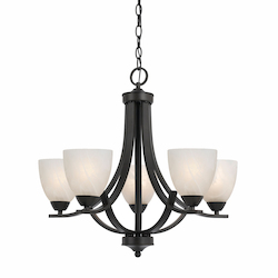 Value Collection 8002 5 Light Chandelier In A Bronze Finish