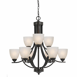 Value Collection 8002 9 Light Chandelier In A Bronze Finish