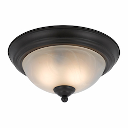 Value Collection 8002 2 Light Flush Mount In A Bronze Finish