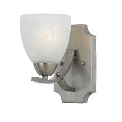 Value Collection 8001 1 Light Sconce In Satin Nickel Finish