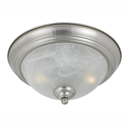 Value Collection 8001 2 Light Flush Mount In A Satin Nickel Finish