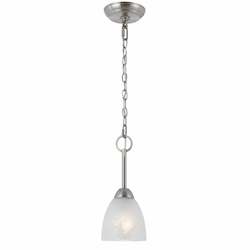 Value Collection 8001 Mini Pendant In Satin Nickel Finish