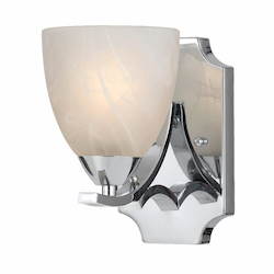 Value Collection 8003 1 Light Wall Sconce In A Chrome Plated Finish