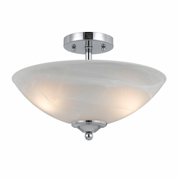 Value Collection 8003 2 Light Semi Flush In A Chrome Plated Finish