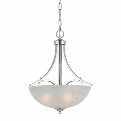Value Collection 8003 3 Light Pendant In A Chrome Plated Finish
