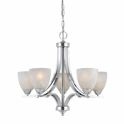 Value Collection 8003 5 Light Chandelier In A Chrome Plated Finish