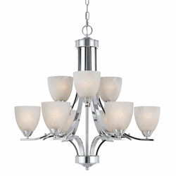 Value Collection 8003 9 Light Chandelier In A Chrome Plated Finish