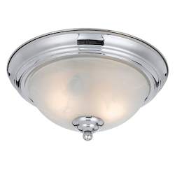 Value Collection 8003 2 Light Flush Mount In A Chrome Plated Finish