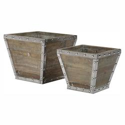 Uttermost Birtle Wood Containers S/2