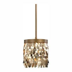Uttermost Tillie 1 Light Gold Mini Pendant