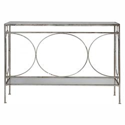 Uttermost Luano Silver Console Table