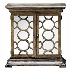 Pewter Glasson 35In. Mirrored Console Cabinet
