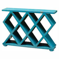Uttermost Tomek Blue Console Table