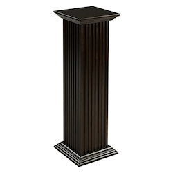 Square Fluted Pedestal - Mahogany - 393268