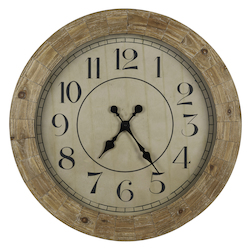Fairbanks Clock - Wood - 393415