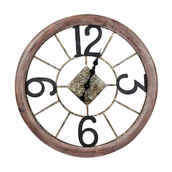 Caravita Clock - Wood and Metal - 393424