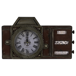 Volga Clock - Wood - 393503