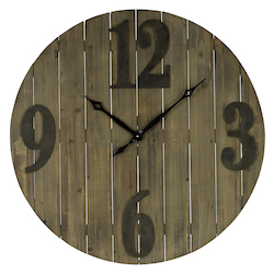 Mahdis Clock - Wood - 393535