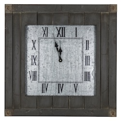 Rutledge Clock - Wood - 393561
