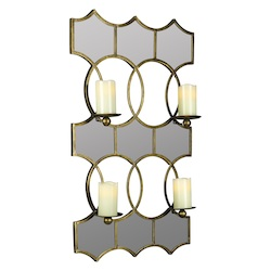 Lia Mirror Candle Holder - Metal - 393653