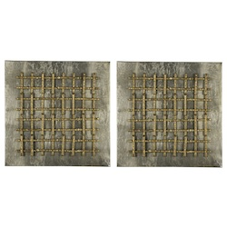 Garrett Wall Art- Set of 2 - Metal - 393698