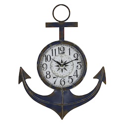 Anchor Clock - Metal - 393744