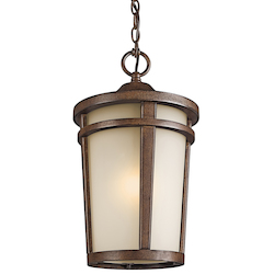 Brown Stone 1 Light Outdoor Pendant From The Atwood Collection