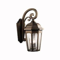 Kichler 9034Rz Rubbed Bronze Courtyard Collection 3 Light 22