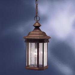 One Light Tannery Bronze Hanging Lantern