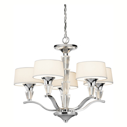 Chrome Crystal Persuasion 5 Light Single-Tier Mini Chandelier