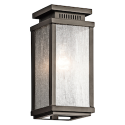 Olde Bronze Manningham Collection 1 Light 11In. Outdoor Wall Light