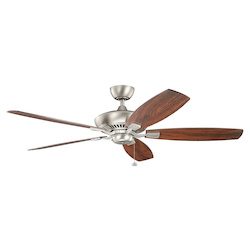 Distressed Black Tulle 60 Inch 5 Blade Ceiling Fan