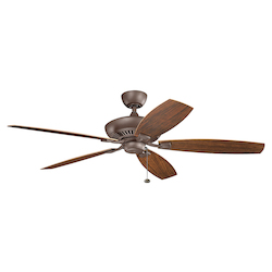 Tannery Bronze Powder Coat Tulle Patio 60 Inch 5 Blade Ceiling Fan