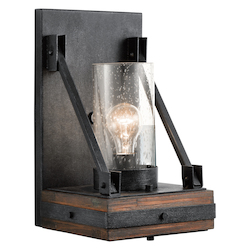 Kichler 43436Aub Auburn Stained Colerne 1 Light Wall Sconce