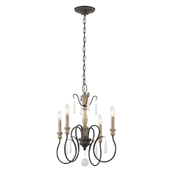 Weathered Zinc Kimberwick 4 Light 18In. Wide Chandelier