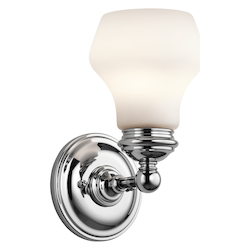 Chrome Currituck 1 Light Wall Sconce