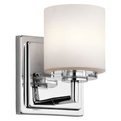 Chrome O Hara 1 Light Wall Sconce