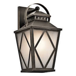 Olde Bronze Hayman Bay Collection 1 Light 17In. Outdoor Wall Light
