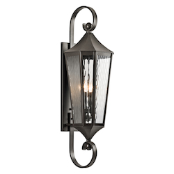 Four Light Olde Bronze Wall Lantern