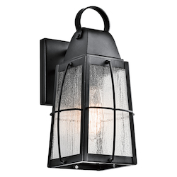 Textured Black Tolerand Collection 1 Light 12In. Outdoor Wall Light