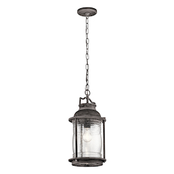 Weathered Zinc Ashland Bay 1 Light Outdoor Pendant Light