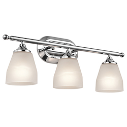 Three Light Chrome Vanity