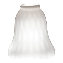 2 1/4 Inch Glass Shade Wh Wate