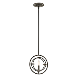 Olde Bronze Imogen 1 Light 3In. Wide Pendant