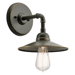 Olde Bronze Westington 1 Light 10In. Wide Wall Sconce With Metal Shade