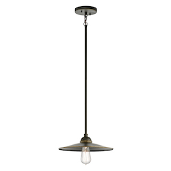 Olde Bronze Westington 1 Light 12In. Wide Pendant With Metal Shade