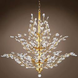 18 Light Chandelier in Gold Finish with European Crystals - 396467